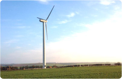 Wind turbine land lease