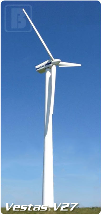 The Vestas V27 turbine is intended for a range of harsh conditions ...