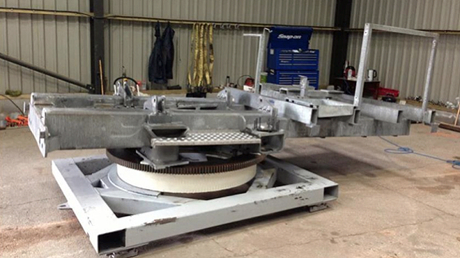 Wind Turbine Chassis After Degreasing