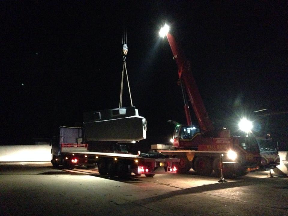 Loading nacelle for transport to Scotland